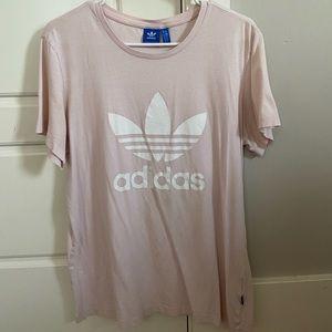 Women's Pink Adidas T-Shirt
